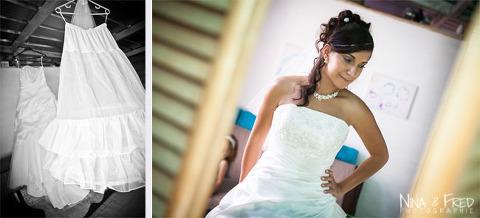 préparation de la mariée Amandine et Rémy