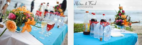photos vin d'honneur plage Sarah et Sonel