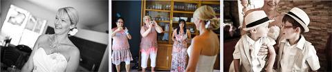préparation de la mariée Sandra et Denis