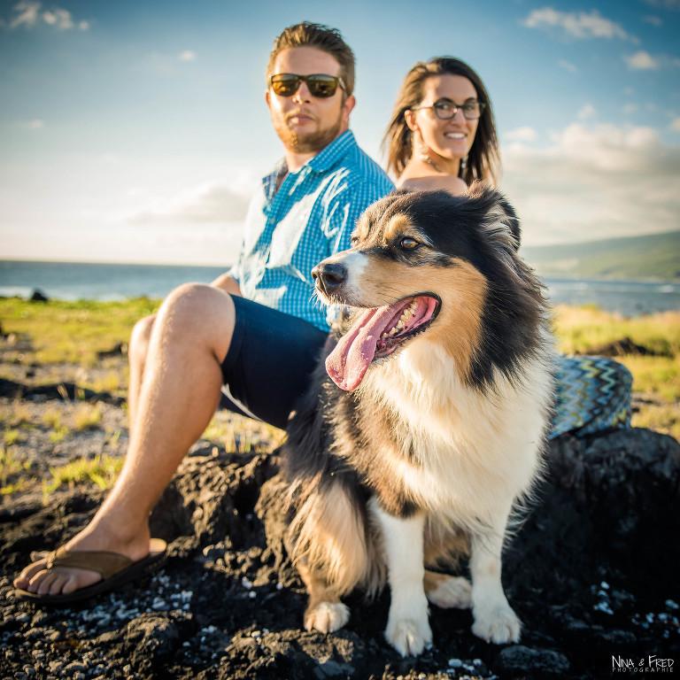 couple et chien Réunion C&A