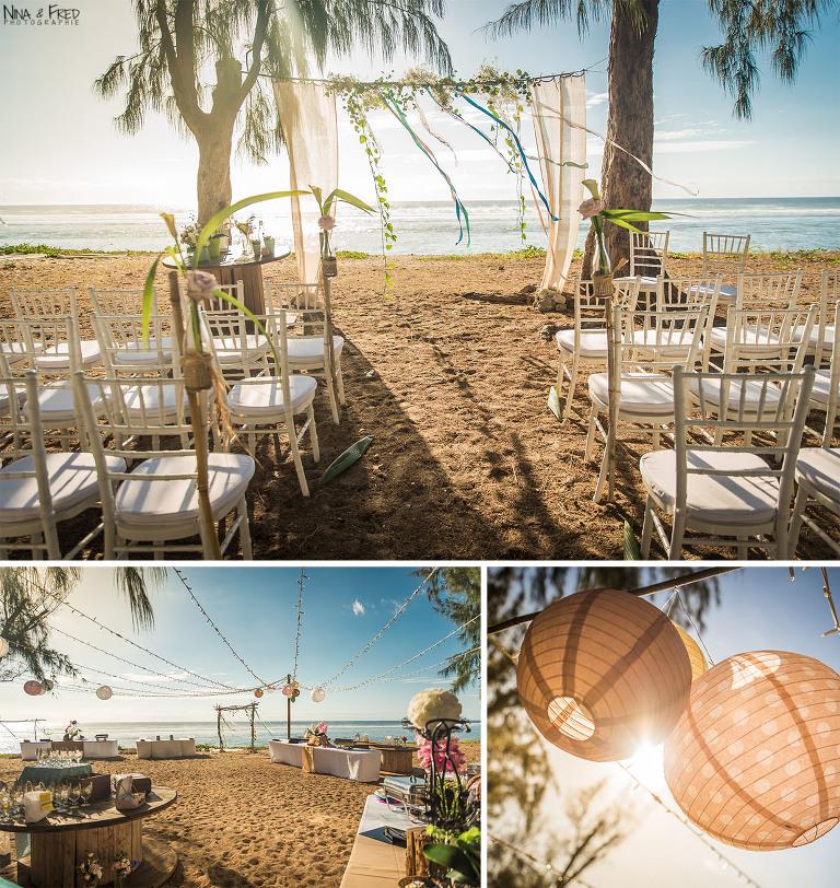 décoration cérémonie plage
