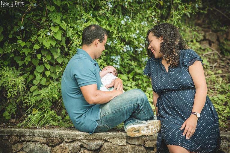 photo famille naissance Rohann Tampon