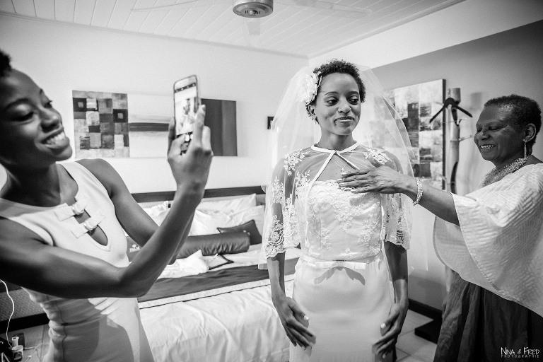 préparation de la mariée B&S