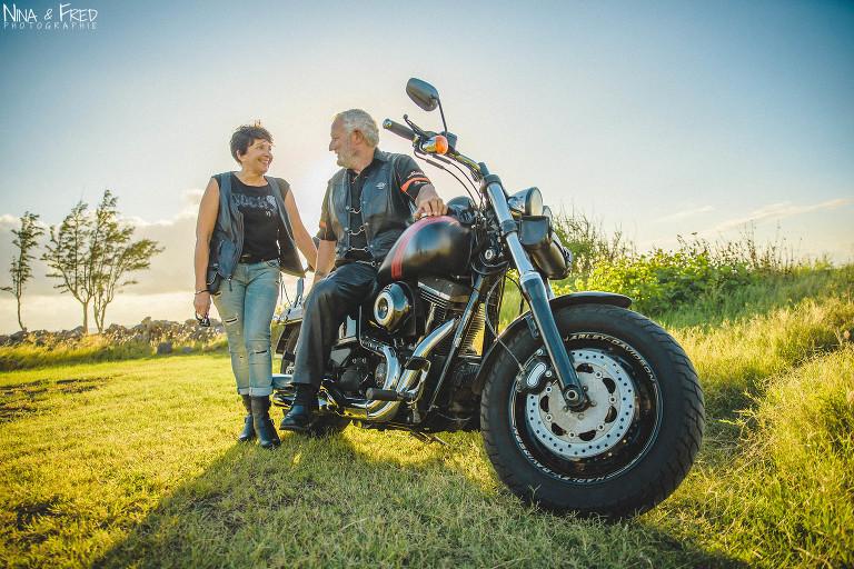 séance photo couple moto C&B