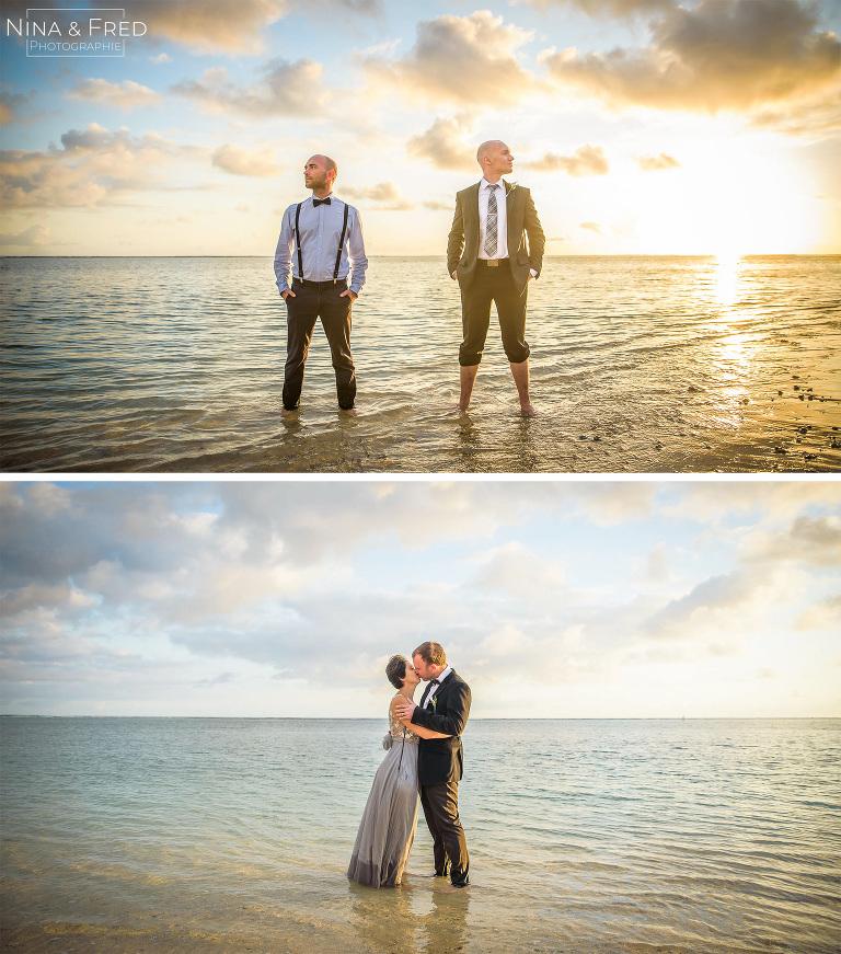 invités du mariage dans l'eau S&A