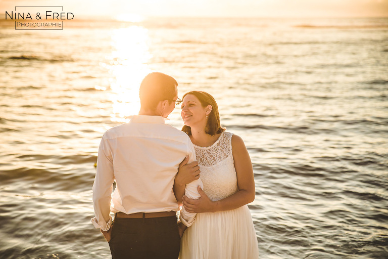 photo trash the dress coucher du soleil L&E