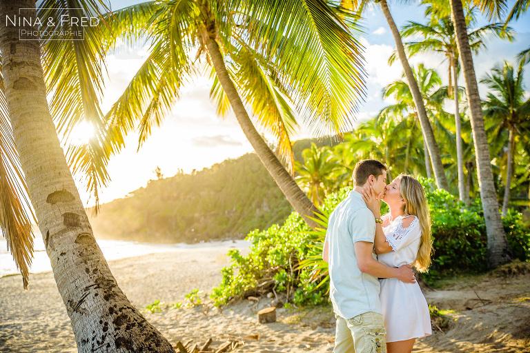 shooting photo en couple à la Réunion L&J