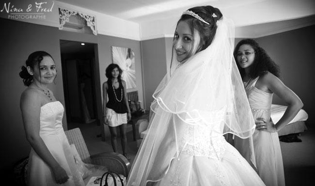 photo de la mariée et ses demoiselles d