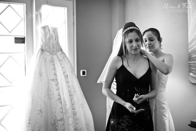 Vanessa et Paolo preparation de la mariée