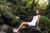 Sur les rochers de la Réunion.