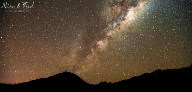 photographie nocturne la voie lactée au Tampon 974