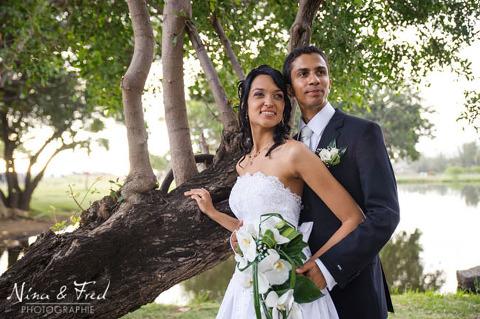photographie des mariés Sarah et Denis
