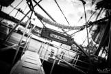 bateau noir et blanc
