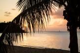 le soleil qui se couche sur Saint Martin