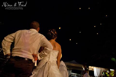 mariage lâcher de lanternes Maelle et Loïc