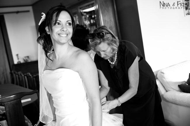 la mariée en noir et blanc Maud