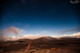 photographie nocturne de la plaine des sables