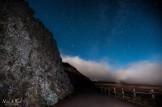 photo de nuit route du volcan