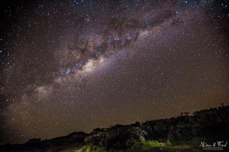 paysage ert étoiles