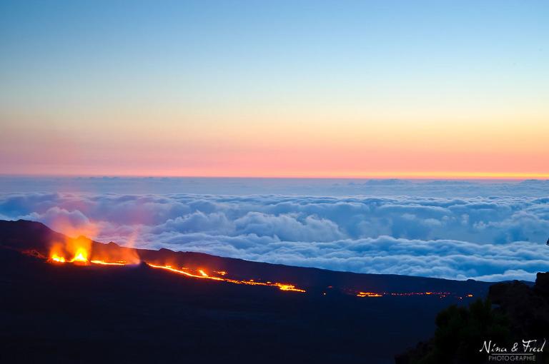 éruption volcan île de la Réunion