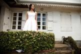 Mariée dans une case créole traditionnelle