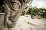 totem dans le sable