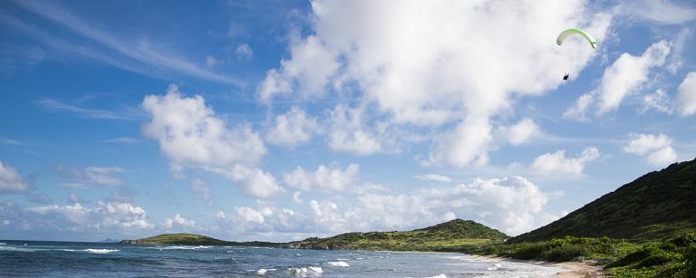 Paysage panoramique de Saint Martin