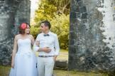 Lucie et Yann dans les ruines de la Réunion