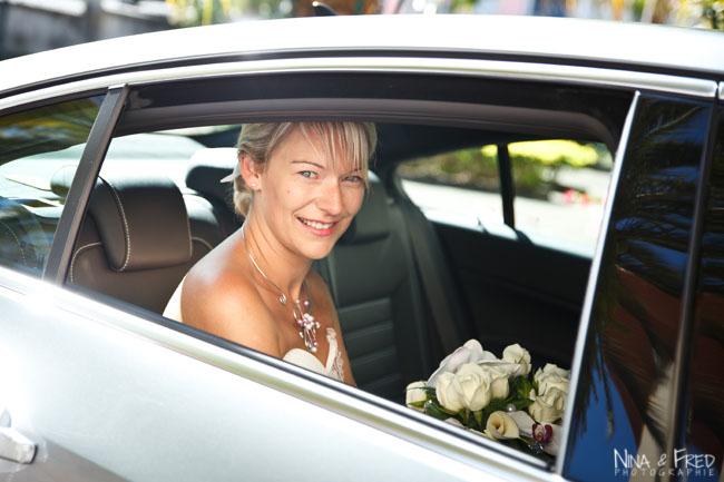 la mariée arrive Sandra et Denis