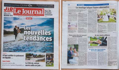 photographies en couverture du journal de l'île