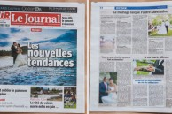 photographies en couverture du journal de l'île