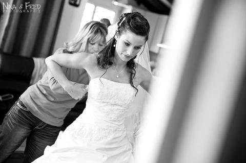 préparation de la mariée Maeva et Cédric