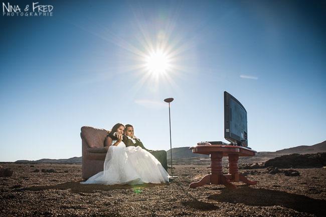 photographie originale mariage Amandine