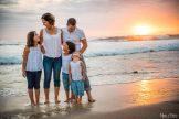 famille coucher du soleil