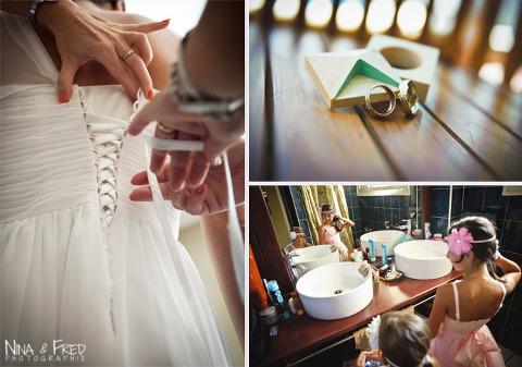photographies préparation de la mariée Laura