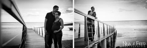 photo de grossesse en noir et blanc Murielle