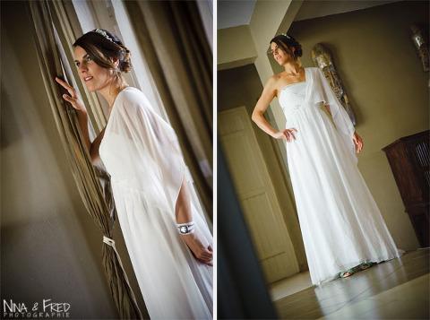 la mariée dans sa robe Laura