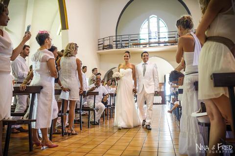 entrée des mariés Aurélie et Maxime