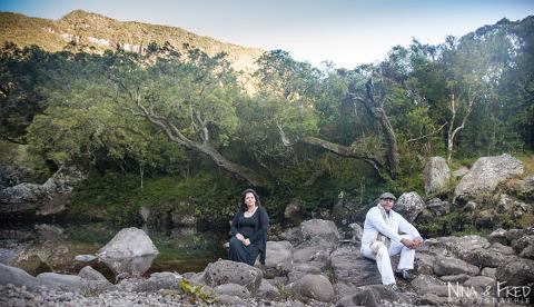photographie de couple en forêt Mickaëlle
