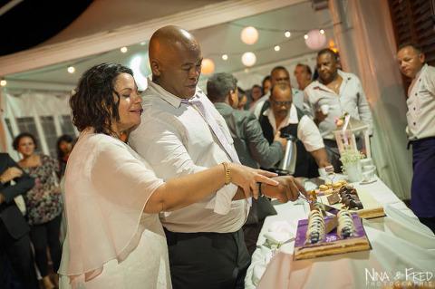 photo gâteau mariage M&T