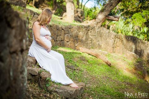 photo femme enceinte à la Réunion Audrey