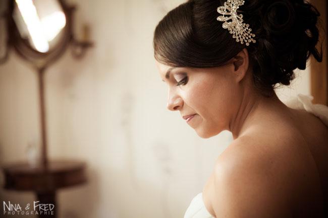 portrait de la mariée Linda