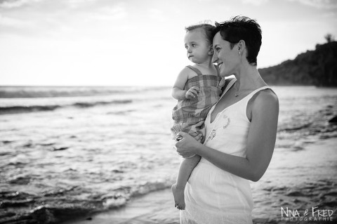 photo de famille noir et blanc Coralie