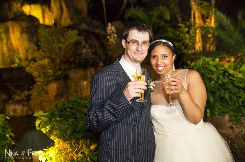 les mariés au Domaine Anna