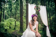 shooting d'inspiration mariage forêt