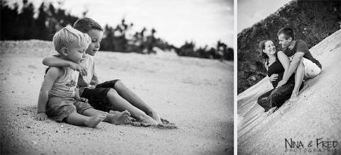 photos de famille noir et blanc C&R