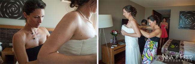 préparation de la mariée M&F