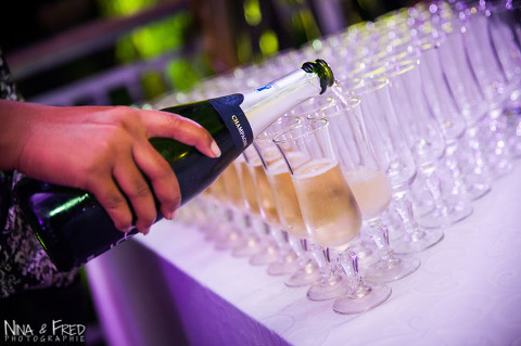 champagne servi au mariage de L&N