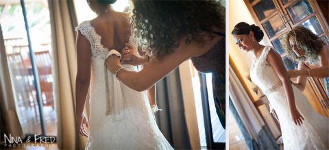 habillage de Leatitia pour son mariage