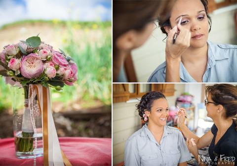 photos du maquillage de Delphine
